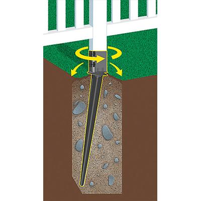 Adjustable Ground Spike illustration