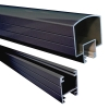 Attractive and durable powder-coated Hand and Base Rails available in Black and White colors and 4' and 6' lengths