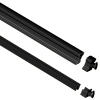 Attractive and durable powder-coated Stair Hand and Base Rails available in Black and White colors and 4' and 6' lengths
