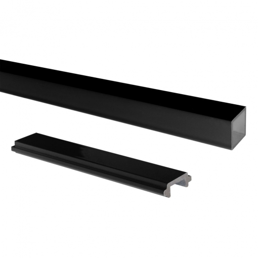 Attractive and durable powder coat finish Black Standard Picket and Spacer Set
