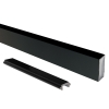 Attractive and durable powder coat finish Black Wide Picket and Spacer Set