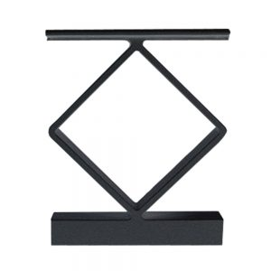 Durable Powder Coated Black Spacer set to fill 4-inch and 6-inch railing sections