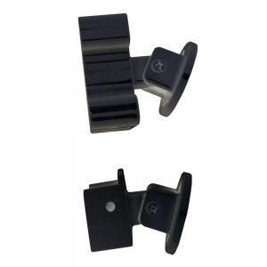 Connect stair hand and base rails securely to posts with the stair rail bracket kit