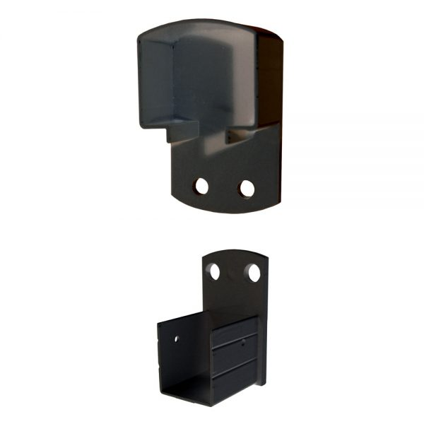 Wall mount bracket helps to connect hand and base rails securely to the wall or existing posts