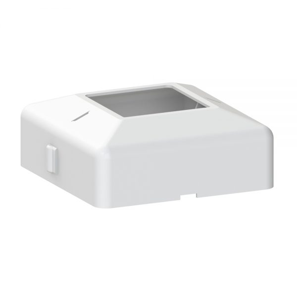 Powder-coated and easy to install 4-inch x 4-inch white post base cover