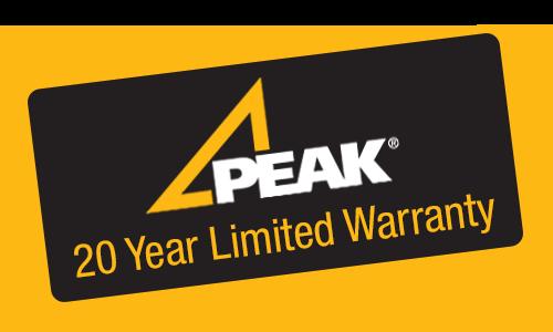Peak 20 Years Limited Warranty Badge