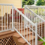White Stair Picket Railing