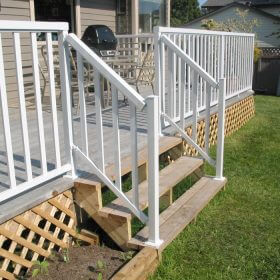 Wide Stair Pickets railing in White