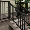 Black Stair Wide Picket and Railing