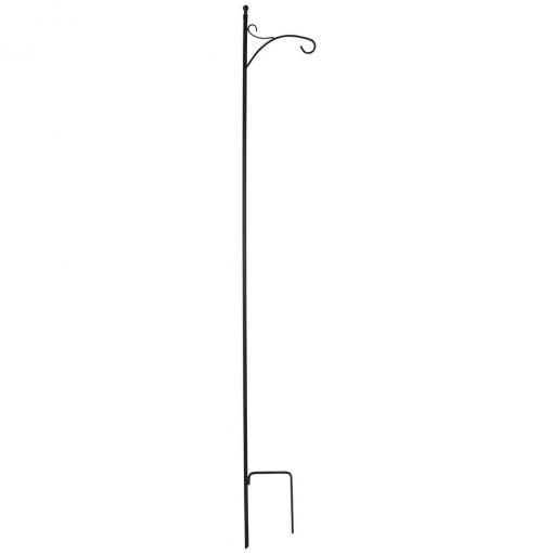 84 inch Black Steel Deluxe Single Shepherd Hook